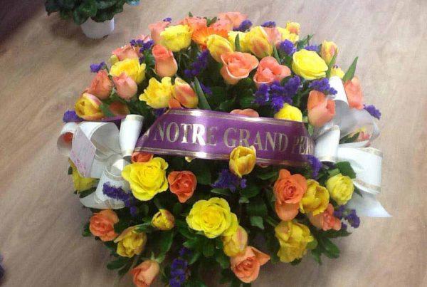 Arrangement floral pour deuil